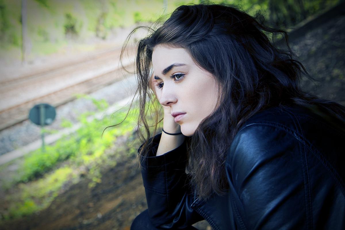 woman contemplating mental health
