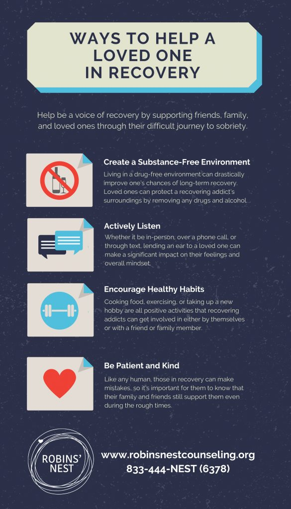 Ways to Help a Loved One in Recovery - Infographic